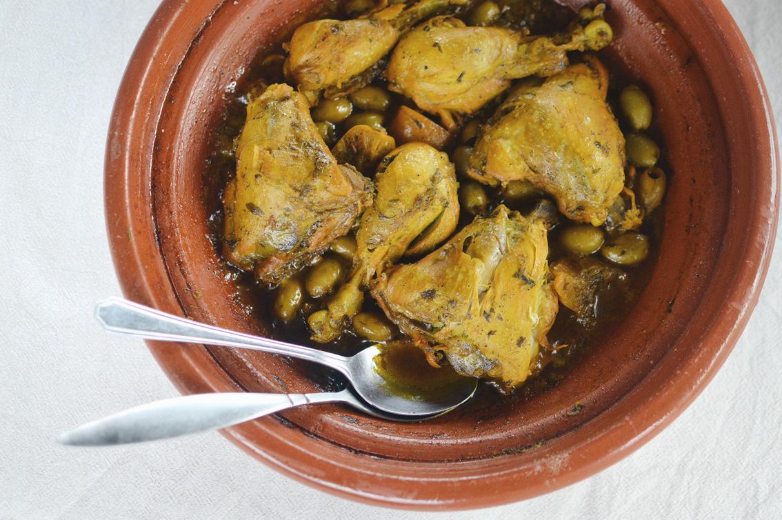 10-1 Tajine di pollo con limone e olive.