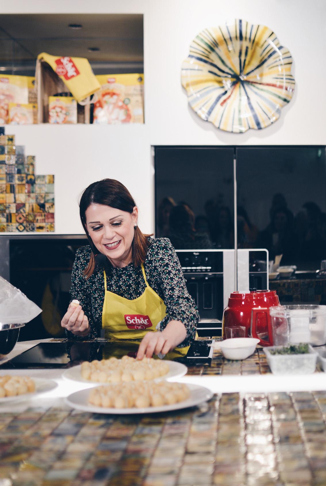 1 Show Cooking con Sonia Peronaci e Schär, imparando deliziose ricette gluten free.