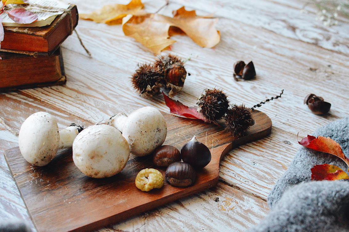 10-1 The perfect seasonal recipe: chestnut and mushroom soup with Pangrì Mulino Bianco.