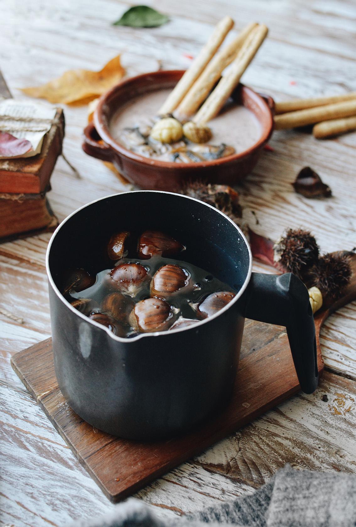 6-1 The perfect seasonal recipe: chestnut and mushroom soup with Pangrì Mulino Bianco.